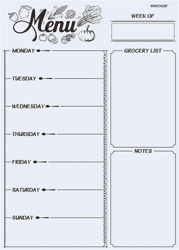 Vantasii Magnetic Refrigerator Whiteboard - Weekly Planner Whiteboards